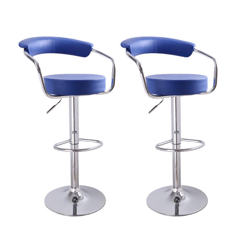 Unbyn Blue Swivel Bar Stools (Set of two)