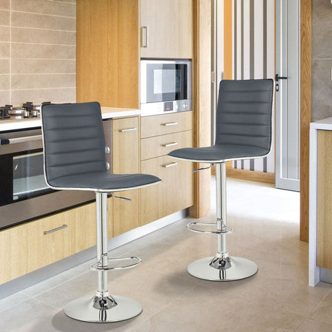 Goobies Grey Swivel Bar Stools (Set of two)