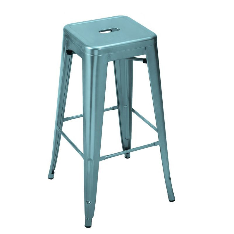 Consumer Light Blue 30 Inch Metal Bar Stools Set Of Two Bar Stools