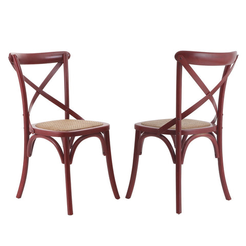 Red Elm Wood Vintage-Style Dining Chairs (Set of two)