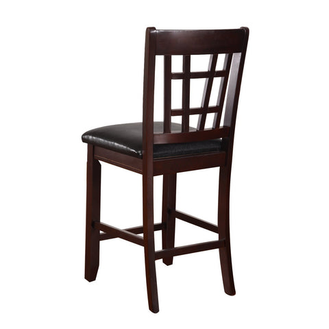 Black Leatherette Dining Chairs (Set of 2)