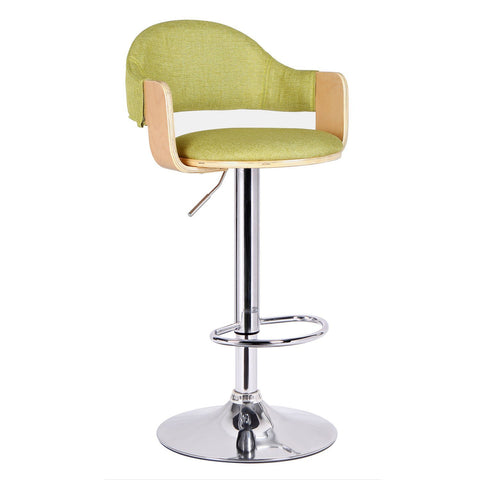 Malmberget Green Fabric Modern Bar Stool with Arm
