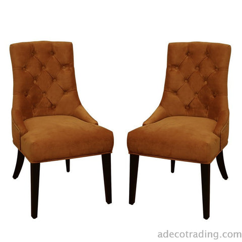 Side 4 legs with Solid wood Tufted