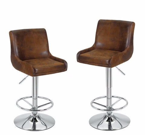 Brown Height Adjustable Classic Bar Stools