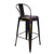 Antique Copper Metal Barstool With Back (Set of 2) - YourBarStoolStore + Chairs, Tables and Outdoor  - 3
