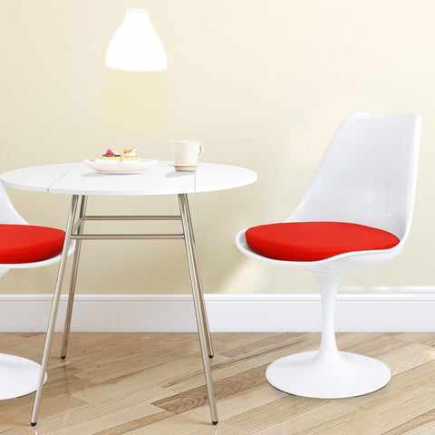 Tulip Chair with Red Cushion (Single) 21.26""