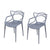 Designer Abstract Stacking Dining Chairs (Grey) - Set of 2 - YourBarStoolStore + Chairs, Tables and Outdoor  - 2