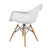 White Charles & Ray Eames Modern Dining Chairs / Armchairs with Birch Wood Legs (Set of Two) - YourBarStoolStore + Chairs, Tables and Outdoor  - 3