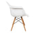 White Charles & Ray Eames Modern Dining Chairs / Armchairs with Birch Wood Legs (Set of Two) - YourBarStoolStore + Chairs, Tables and Outdoor  - 5