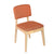 Bentwood Dining Chair with Orange Linen Back Support & Seat - YourBarStoolStore + Chairs, Tables and Outdoor  - 2