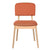 Bentwood Dining Chair with Orange Linen Back Support & Seat - YourBarStoolStore + Chairs, Tables and Outdoor  - 3