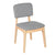 Bentwood Dining Chair with Grey Linen Back Support & Seat - YourBarStoolStore + Chairs, Tables and Outdoor  - 2