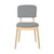Bentwood Dining Chair with Grey Linen Back Support & Seat - YourBarStoolStore + Chairs, Tables and Outdoor  - 3