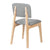 Bentwood Dining Chair with Grey Linen Back Support & Seat - YourBarStoolStore + Chairs, Tables and Outdoor  - 4