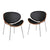 Bentwood Chairs with Curved Black Seat & Back (Set of 2) - YourBarStoolStore + Chairs, Tables and Outdoor  - 2