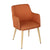 Orange Fabric Armchair - YourBarStoolStore + Chairs, Tables and Outdoor  - 2