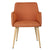 Orange Fabric Armchair - YourBarStoolStore + Chairs, Tables and Outdoor  - 3