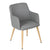 Grey Fabric Armchair - YourBarStoolStore + Chairs, Tables and Outdoor  - 2