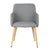 Grey Fabric Armchair - YourBarStoolStore + Chairs, Tables and Outdoor  - 3