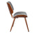 Bentwood Dining Chair with Grey Wool-Like Frabric Support & Seat - YourBarStoolStore + Chairs, Tables and Outdoor  - 3