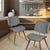 Bentwood Dining Chair with Grey Wool-Like Frabric Support & Seat - YourBarStoolStore + Chairs, Tables and Outdoor  - 2