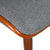 Bentwood Dining Chair with Grey Wool-Like Frabric Support & Seat - YourBarStoolStore + Chairs, Tables and Outdoor  - 5