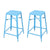 Blue 26-inch Metal Counter Stools (Set of Two) - YourBarStoolStore + Chairs, Tables and Outdoor  - 2