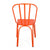 Orange Metal Chair (Set Of Two) - YourBarStoolStore + Chairs, Tables and Outdoor  - 4