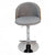 Heather Grey Adjustable Plywood Bar Stool With Fabric - YourBarStoolStore + Chairs, Tables and Outdoor  - 2