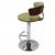 Yellow to Green Adjustable Plywood Bar Stool With Fabric - YourBarStoolStore + Chairs, Tables and Outdoor  - 2