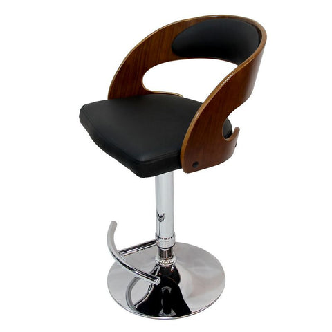 Adjustable Height Plywood Bar Stool With Black PU