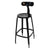 Black Metal Bar Stool with Back (Set of Two) - YourBarStoolStore + Chairs, Tables and Outdoor  - 3
