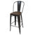 Glossy Bronze Metal Bar Stool with Back & Wooden Seat (Set of Two) - YourBarStoolStore + Chairs, Tables and Outdoor  - 3
