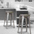 Galvanished Steel Metal Bar Stools with Multi-Color Wooden Seat (Set of Two) - YourBarStoolStore + Chairs, Tables and Outdoor  - 4
