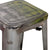 Galvanized Steel Metal Bar Stools with Multi-Color Wooden Seat (Set of Two) - YourBarStoolStore + Chairs, Tables and Outdoor  - 3