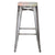 Galvanized Steel Metal Bar Stools with Multi-Color Wooden Seat (Set of Two) - YourBarStoolStore + Chairs, Tables and Outdoor  - 2