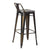 Antique Copper Metal Bar Stools with Multi-Color Wooden Seat (Set of Two) - YourBarStoolStore + Chairs, Tables and Outdoor  - 3