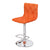 Orange Fabric Adjustable Bar Stools (Set of 2) - YourBarStoolStore + Chairs, Tables and Outdoor  - 2