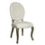 European Style Upholstered Tufted Linen Side / Dining Chairs with Round Back (Cream)- Set of 2 - YourBarStoolStore + Chairs, Tables and Outdoor  - 2