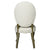 European Style Upholstered Tufted Linen Side / Dining Chairs with Round Back (Cream)- Set of 2 - YourBarStoolStore + Chairs, Tables and Outdoor  - 3