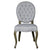 European Style Upholstered Tufted Linen Side / Dining Chairs with Round Back (Light Grey) - Set of 2 - YourBarStoolStore + Chairs, Tables and Outdoor  - 2