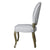 European Style Upholstered Tufted Linen Side / Dining Chairs with Round Back (Light Grey) - Set of 2 - YourBarStoolStore + Chairs, Tables and Outdoor  - 3