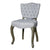 European Style Upholstered Tufted Linen Side / Dining Chairs (Cream) - (Set of 2) - YourBarStoolStore + Chairs, Tables and Outdoor  - 2