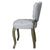 European Style Upholstered Tufted Linen Side / Dining Chairs (Cream) - (Set of 2) - YourBarStoolStore + Chairs, Tables and Outdoor  - 3