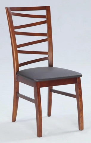 Chintaly Solid Oak Side Chair   *Completely Set Up Brown Pvc CHERI-SC