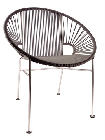 Innit Concha Chair Chrome Frame With Grey Weave