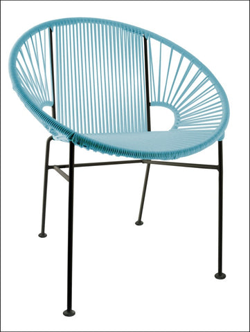 Innit Concha Chair Blue Weave On Black Frame