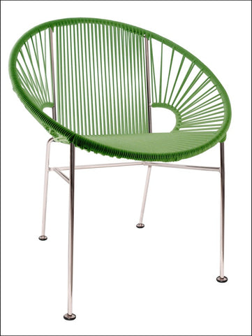 Innit Concha Chair Chrome Frame With Cactus Weave