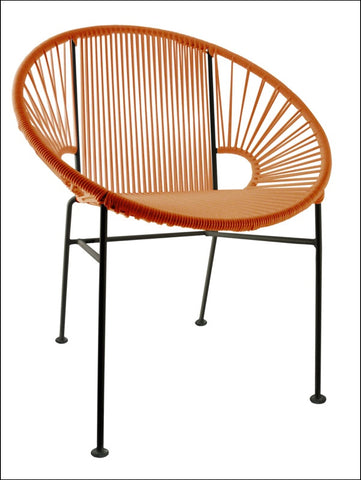 Innit Concha Chair Orange Weave On Black Frame