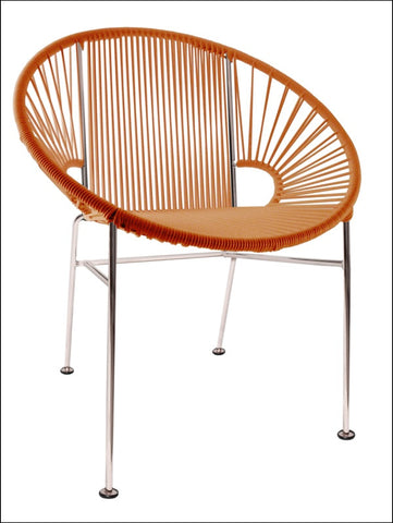 Innit Concha Chair Chrome Frame With Orange Weave